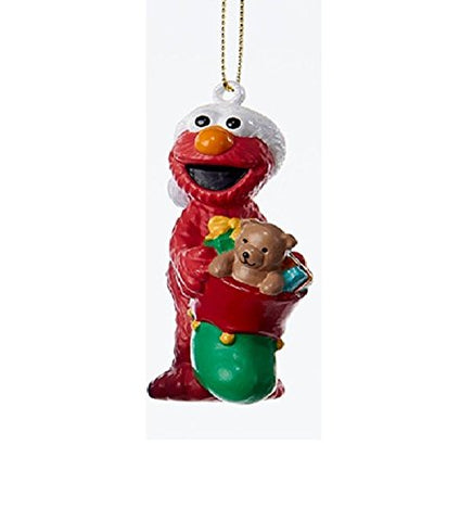 3.25 Sesame Street Elmo Blow Mold Christmas Ornament