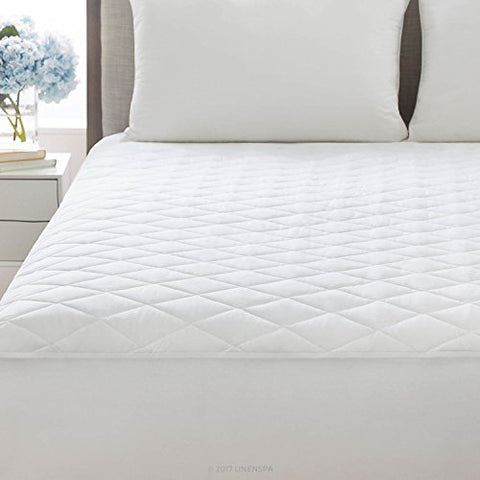 Linenspa Plush Microfiber Mattress Pad With Deep Pocket Stretch Skirt, Twin Xl