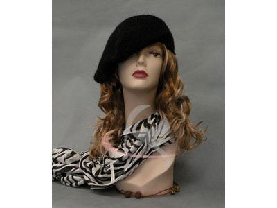 (Md-Tinaf3) Roxy Display Female Mannequin Head. Ears Pierced