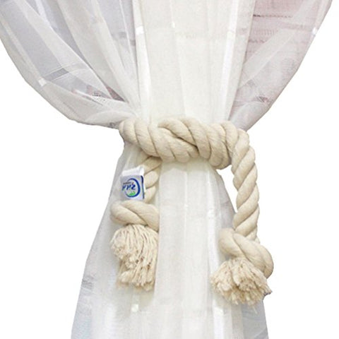 1 Piece Cotton Rope Holdback Handmade Curtain Decorative Tiebacks By Zhh ,22 Inch