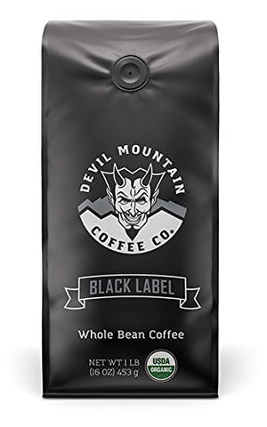 """Black Label"" High-Powered Gourmet Coffee - Usda Certified Organic - ""The Most Powerful Coffee In The World Without Compromising On Flavor"" (Whole Bean) 16 0Z."