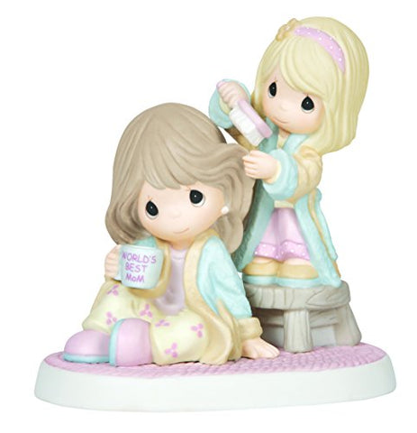 Precious Moments, I Cherish Our Time Together, Bisque Porcelain Figurine, Mother And Daughter, 144004