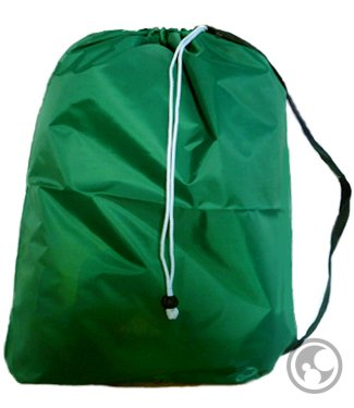 Medium Laundry Bag With Drawstring, Shoulder Strap, Locking Closure, Color: Green, Size: 24X36