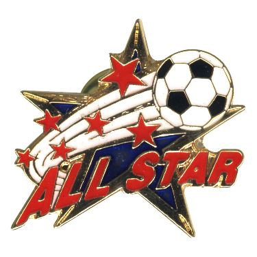 # 179 All Star Soccer Pin (1 Inch Actual Size)