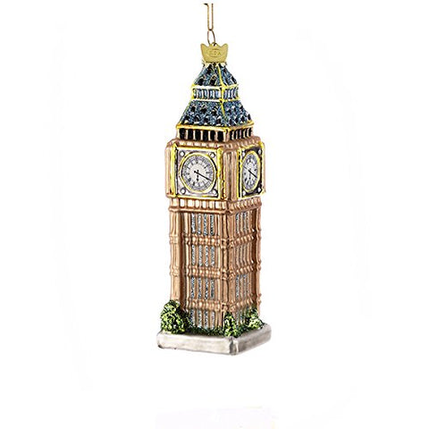 Kurt Adler 5-1/2-Inch Noble Gems Glass Big Ben Ornament