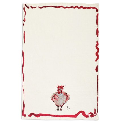 Sur La Table Jacques Pepin Collection Chicken Kitchen Towel M-69390 , 28 X 18