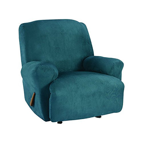 Sure Fit Ultimate Stretch Suede - Recliner Slipcover  - Peacock Blue (Sf45270)