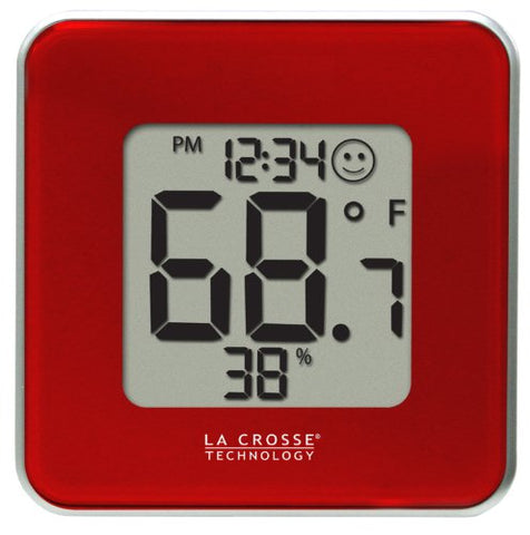 La Crosse Technology 302-604R-Tbp Red Indoor Digital Thermometer And Hygrometer Station