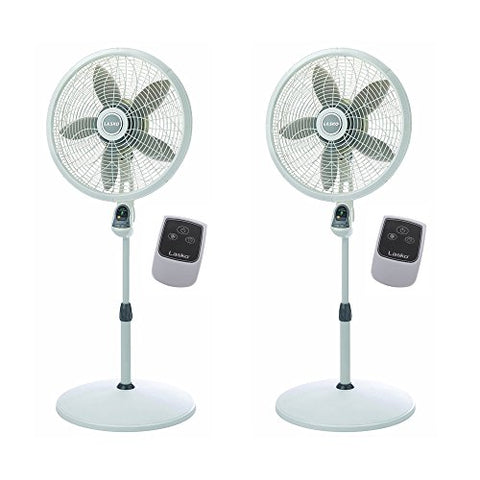 Lasko 18 Inch Elegance Performance Oscillating Pedestal Fan W/ Remote