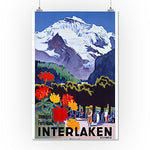 Interlaken - Schweiz Vintage Poster Switzerland (16X24 Giclee Gallery Print, Wall Decor Travel Poster)