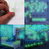 Glow Wall Stickers Or Ceiling Stars With Moon Stickers In The Dark  Luminous Decal Stickers For Simulated Ideal Kids Decor (Star)