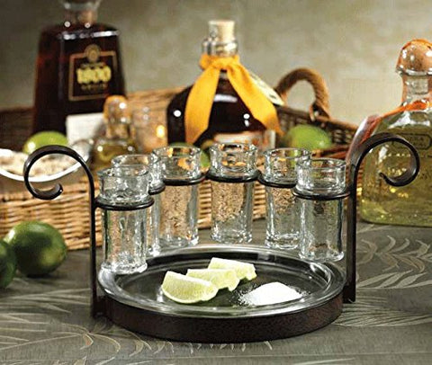 Regale 6-Shot Tequila Serving Set, Bronze