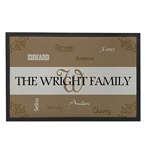 Custom Faimly Names Doormats Personalized Front Home Mat Christmas Hoursewarming Presents For Mom Outdoor Mats