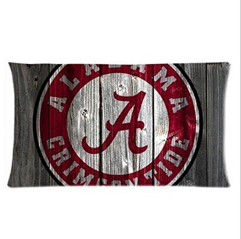 Alabama Crimson Tide Wooden Pillowcase 20*30 Inches Inch Top Design Pillow Cover Cases Two Sides Printed