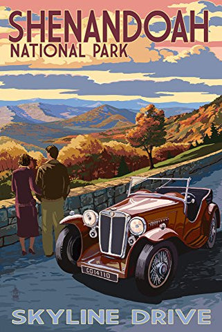 Shenandoah National Park, Virginia - Skyline Drive (16X24 Giclee Gallery Print, Wall Decor Travel Poster)