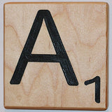 Large Scrabble Letter Tile (5 X 6, A)
