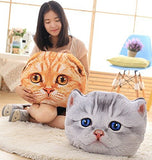 3D Cat Stuffing Throw Pillow Stuffed Plush Toy Play Doll Filled Home Decoration Filling Cushion For Children Kid Boy Girls Boy Birthday Gift Festival Christmas