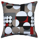 Multi-Sized Both Sides Geometric Round Printed Cushion Cover Livebycare Linen Cotton Throw Pillow Case Sham Pattern Zipper Pillowslip Pillowcase For Home Sofa Couch Chair Back Seat