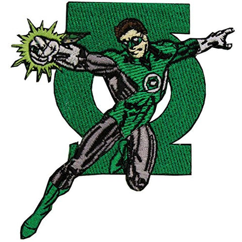 Dc Comics The Justice League Green Lantern Logo Iron On Applique Patch