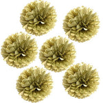 Landisun Exclusive Tissue Paper Flower Poms For Wedding Birthday Room Decoration (10 Inches , Gold)