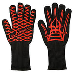 Laukingdom Bbq Grilling Cooking Glove 932F Extreme Heat Resistant Oven Mitts & Bbq Accessories