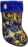 Kurt Adler Doctor Who Tardis Starry Night Stocking, 19-Inch