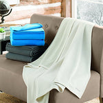 Columbia Sportswear Company Cozy Soft Fleece Bed And Couch Throw Blanket (Titanium Gray) - W/ Thermal Coil Warm Body Heat Insulating Technology