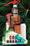 Kurt Adler Chicago Glass Cityscape, Christmas Ornament