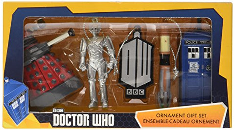 Kurt Adler Doctor Who 2D Printed Ornament Gift Box, 2.5-Inch, Set Of 5