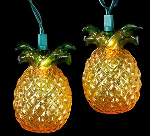 Kurt Adler 10-Light Glass-Look Pineapple Light Set