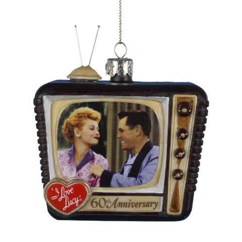 Kurt Adler I Love Lucy Glass Tv Ornament