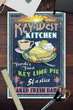 Key West, Florida - Key Lime Pie Vintage Sign (12X18 Art Print, Wall Decor Travel Poster)
