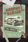 Murphy'S Full Service Garage - Vintage Sign (12X18 Collectible Art Print, Wall Decor Travel Poster)