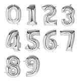 Lovne 40 Inch Silver Number 3 Balloon Birthday Party Decorations Helium Foil Mylar Letter Balloon