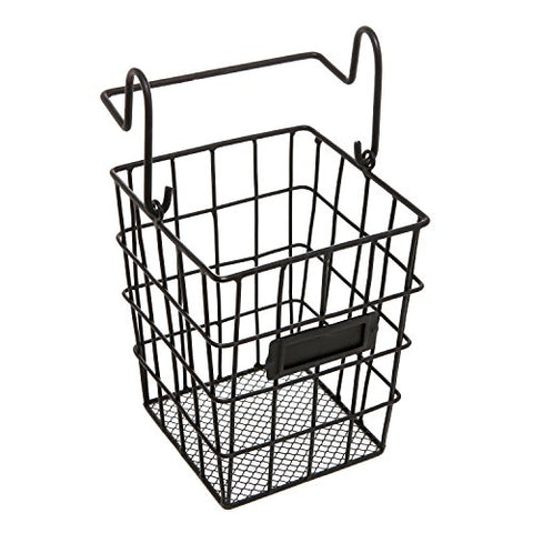 Modular Black Metal Mesh Wire Hanging Kitchen & Dining Utensils Storage Basket / Bathroom Toiletries Holder Basket