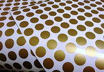 Gold Dots Wall Decal 216 Count, Peel & Stick Removable Stickers. Safe For Paint. Stylish Polka Dot Decor For Any Room Wall, Mirror, & Door. Round 1.5 Vinyl Metallic Gold Circles