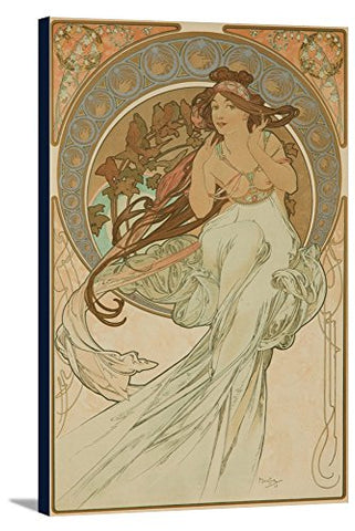 The Arts - Music Vintage Poster (Artist: Mucha, Alphonse) France C. 1898 (22 3/8X36 Gallery Wrapped Stretched Canvas)