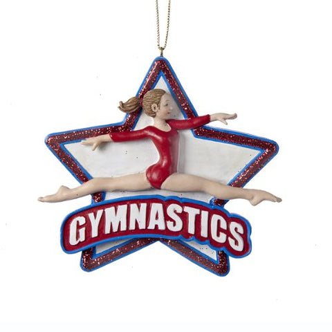 Girl Gymnast Leaping Athlete Sport Star Gymnastics Christmas Ornament