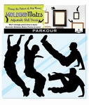 Molding Mates Action Parkour 9 Molding Mates Home Decor Peel And Stick Vinyl Wall Decal Stickers