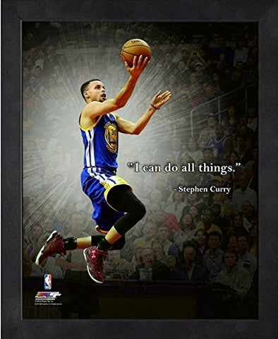 Stephen Curry Golden State Warriors Nba Proquotes Photo Framed (9  X 11 )