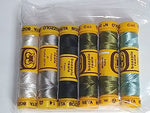 Seta Bozzolo 24Wt Silk Thread Color Set #7 - Neutrals Plus