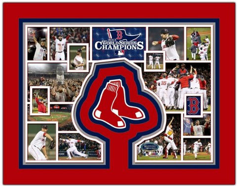 Boston Red Sox 2013 World Series Champions Photo Collage 11  X 14  Matted