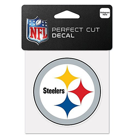 Pittsburgh Steelers Perfect Cut Color Decal 4 X 4 New Wall Decal Nfl