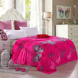 Livebycare Luxury Collection Ultra Soft Flannel Bed Blanket Plush Fleece All-Season Throw/Bed Blanket Couch Blanket Butterfly 59X79