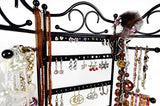 Mango Steam 3-Panel Jewelry Organiser For Hanging Earrings, Bracelets, & Necklaces, Tall Version