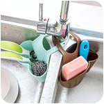 Lautechco Adjustable Snap Sink Faucet Housing Cradle Kitchen Shelving Rack Drain Sponges (Green)