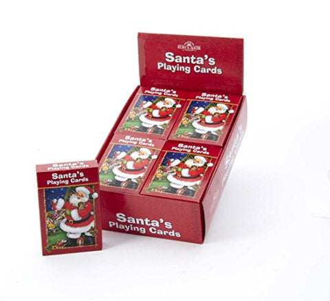 Kurt Adler Santas Playing Cards