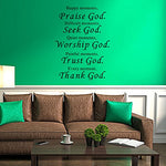 Lankey Wall Vinyl Decal Quote Sign Christian Praise God Diy Art Sticker Home Wall Decor