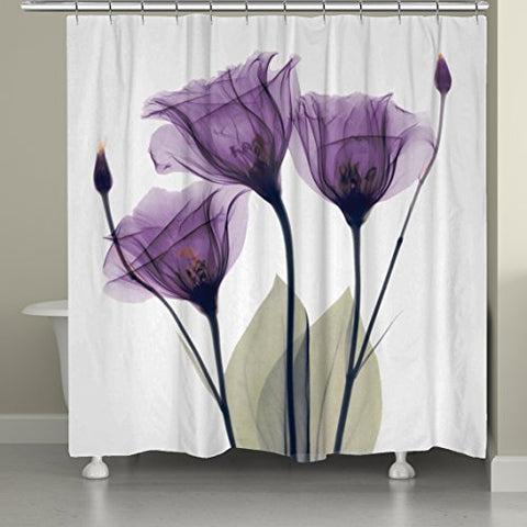 Laural Home Lavender Hope Shower Curtain, 71 By 74