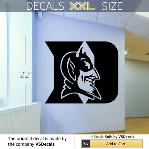 Ncaa Duke Blue Devils Logo Wall Art Decal Sticker (S192)